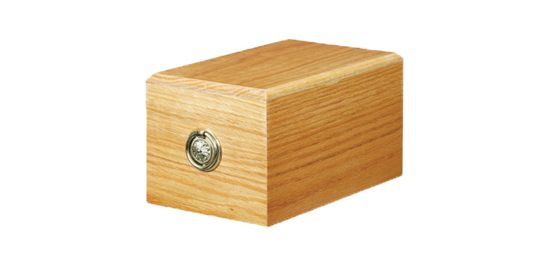 Solid wood cremated remains casket for use in burial paths (Sunnyside & Potten End, etc.)