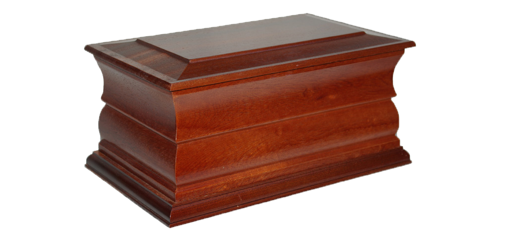 Solid wood casket for cremated remains