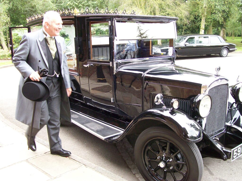 John Worley and the 1933 Austin hearse