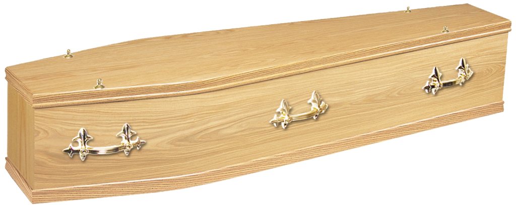 Wood veneered coffin