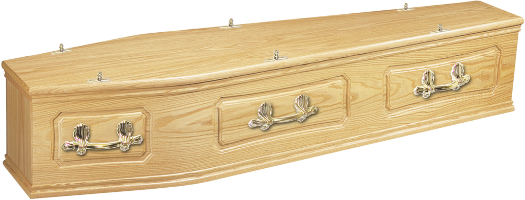 Solid Oak coffin