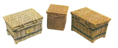 Cremated remains caskets hand made in willow