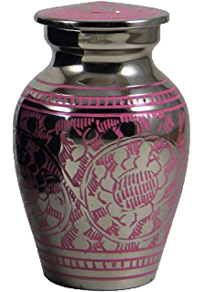 Small keepsake urn designed to hold a portion of cremated remains